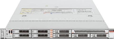 Oracle X6-2: (1 U RACK SERVER)